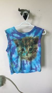 blue and brown tie-dyed sleeveless shirt Mono, L9W 6G7