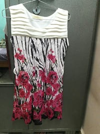 beige and red floral sleeveless dress Secunderabad, 500047