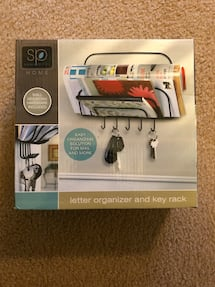 Letter Organizer With Key Rack