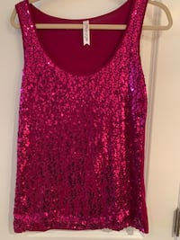Fushia sequinned tank top Oakville, L6L 4X4