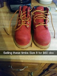 pair of red leather work boots Capitol Heights, 20743