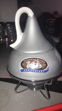 stainless steel and black kettle