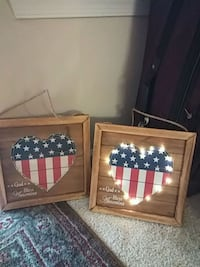 Two Americana wall or window items that light up Pasadena, 21122