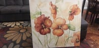 Red and white flowers painting Orlando, 32814