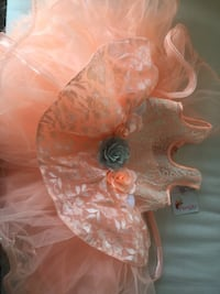 Brand new never worn Baby girl's orange tutu dress Mississauga, L5B 3J5