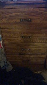 brown wooden 4-drawer chest Los Angeles, 90003