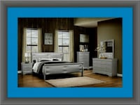 11pc Grey Marley bedroom set with mattress  Gaithersburg