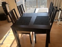 Dining table with four chairs 41 km