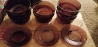 four brown ceramic bowls and plates Lakeside, 92040