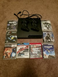 Ps3 console with games two controllers  Cleveland, 37323
