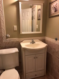 Beige Vanities Sink & Mirror Falls Church, 22044