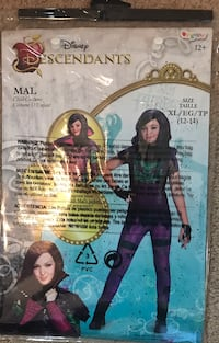 Halloween Costume Disney Descendants Mal Costume and Wig- XL (12-14) Manassas, 20109