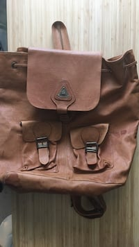 Unicom tan leather backpack Vancouver, V5T 1P4