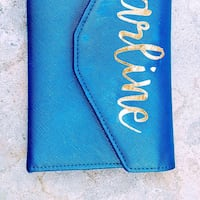 blue leather Michael Kors wristlet Toronto, M1E 4E8