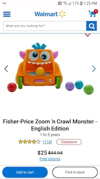 Zoom & Crawl Monster toy