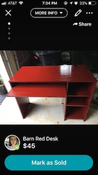 Barn Red Desk Fairfax, 22030