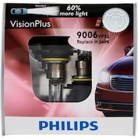 NEW - PHILIPS Vision Plus 9006 Headlight - Two Halogen Bulb Pack TORONTO