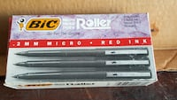 Bic roller ball red pens- box of 12 Winchester, 22601