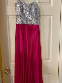 women's silver and pink sleeveless dress Frederick, 21703