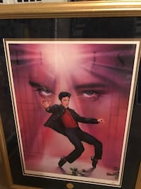Elvis Presley photo with brown wooden frame Greenville, 12771