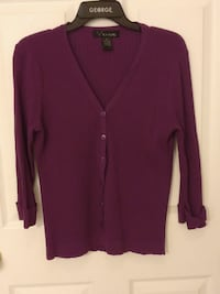 Medium purple buttoned sweater Biloxi, 39531