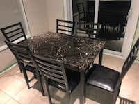 Faux Marble Kitchen table and matching chairs New Tecumseth, L0G 1W0