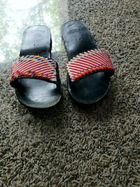 pair of black-and-red slide sandals Frederick, 21703