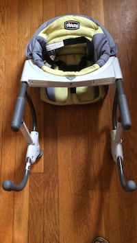 Yellow and grey chicco clip-on highchair. Brand new!!!! Never used, got two for my shower   Ossining, 10562
