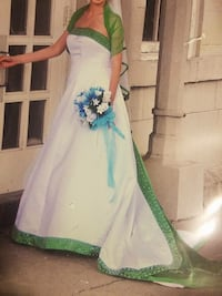 Women's white and green wedding dress Pineville, 71360
