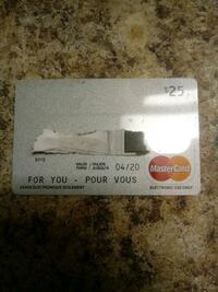 25 Dollar Vanilla Card For Sale Toronto, M9N 1A5