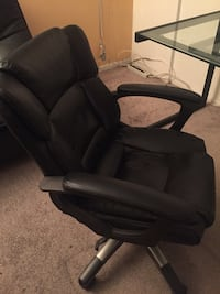 Faux leather computer chair - Black