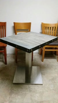 RUSTIC METAL FRAME TABLE TOP