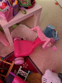 Bike, pink, toddler, baby, tricycle