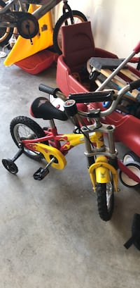 toddler's red and black training bicycle Upper Nyack, 10960
