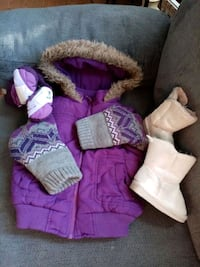 Winter coat 2T and boots size 5. Lot  Edmonton, T5Z 3V2