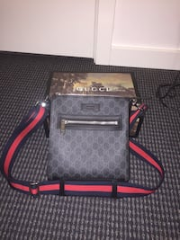 Gucci black gg messenger bag. Comes with og box and receipt.  Vancouver, V6B