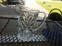 Vintage Clear Glass Small Pitcher Harrodsburg, 40330