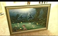 "Large mint condition framed wall hanging 41""×29"" a Fontana, 92336"