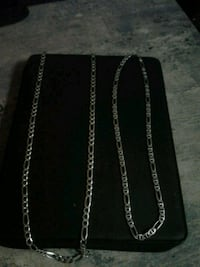 Italian silver chains with pendant and locket