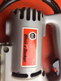 White and red power tool