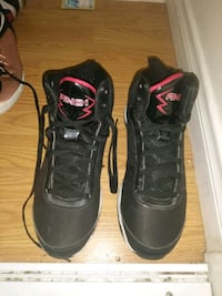 Black leather AND1shoes