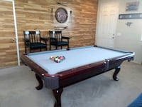 Pool table.also 2 pool table chairs. Victorville, 92392