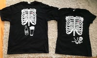 Skeleton X-ray Maternity/pregnancy T-shirt- Couples matching tees- Halloween Costume Calgary, T2W