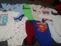 baby's assorted color onesies