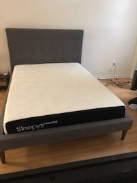 Gray West Elm tufted bed frame North Miami, 33161