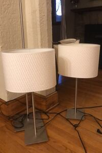 Set of 3 Ikea table lamps and floor lamp