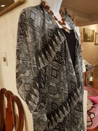 gray and black floral long-sleeved dress Langley, V3A 2W8