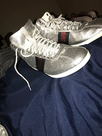 pair of gray Adidas high-top sneakers Mint Hill, 28227