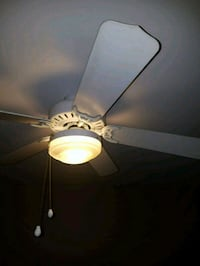 white and yellow ceiling fan Falls Church, 22046