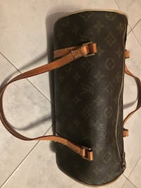borsa in pelle Louis Vuitton nera e marrone Torino, 10154